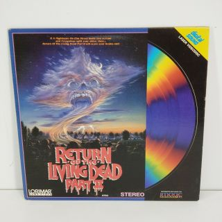 Return Of The Living Dead Part Ii 2 Laserdisc Horror Film Zombie Movie Rare