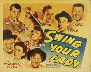 Rare 16mm Feature: Swing Your Lady (humphrey Bogart / Weaver Bros. ) Wrestling