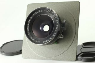 Rare Exc,  5 Fuji Fujinon Sw S 90mm F/8 Seiko Shutter 4x5 Large Format From Jp