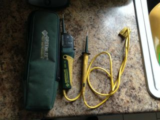Rare Greenlee Dvc - 10 Electrical Tester W/ Flashlight,  Gfci,  600v,  Dvc10
