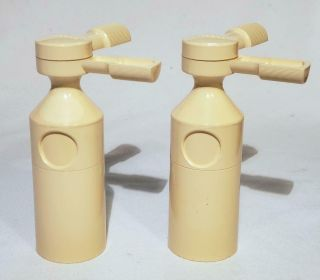 Pair Unicorn Nantucket Rare Salt & Pepper Mill Gun One Hand Grinder Tom David