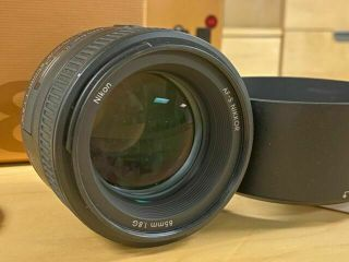 Nikon Nikkor 85mm F/1.  8g Af - S Lens - Box,  Rarely