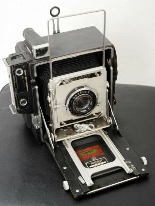Rare Us Marine Corps Vintage Graflex 4x5 Speed Graphic Camera.  For Xmas