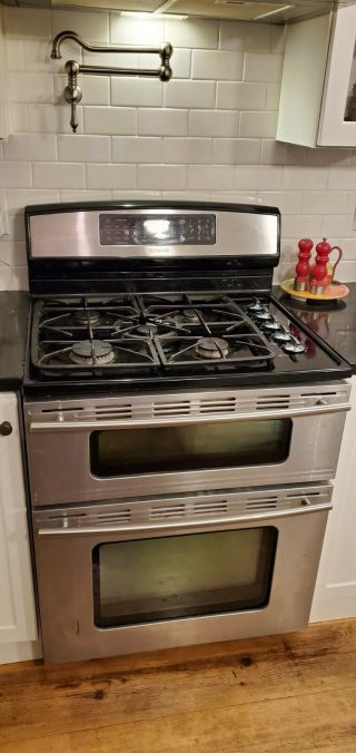 Jenn - Air - Double - Oven - - Standing - Rare - Dual - Fuel - Range - Jdr8895aas