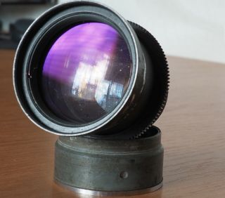 Very Rare Kmz Jupiter100t F2.  5/100mm (tv Lens),  Sonnar,  15 Blades