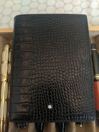 Montblanc Meisterstück Notebook Leather Croc Crocodile Alligator 106663 Rare