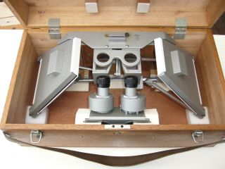 Rare Sokkisha (sokki) 7410 Model Stereoscope Map Viewer In Wooden Box