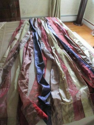 Set Of 2 Rare Mackenzie - Childs Silk Jewel Tone Window Curtains (54 X 82)