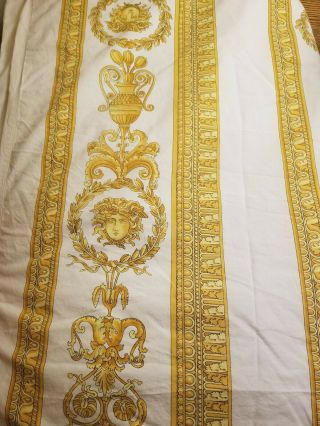 Rare Gianni Versace Medusa Gold Scroll Duvet Cover.  King