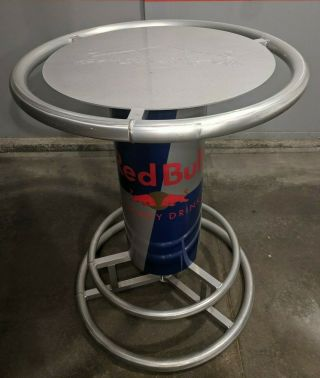 Rare Red Bull Energy Drink Aluminum Indoor / Outdoor Beer Bar Pub High Table